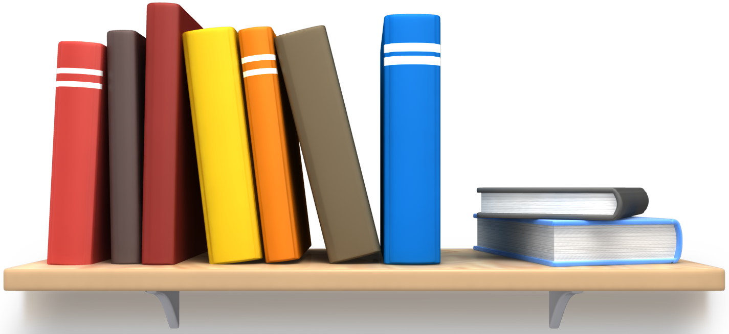 Library Bookshelf Clipart Materiales | Movimient...