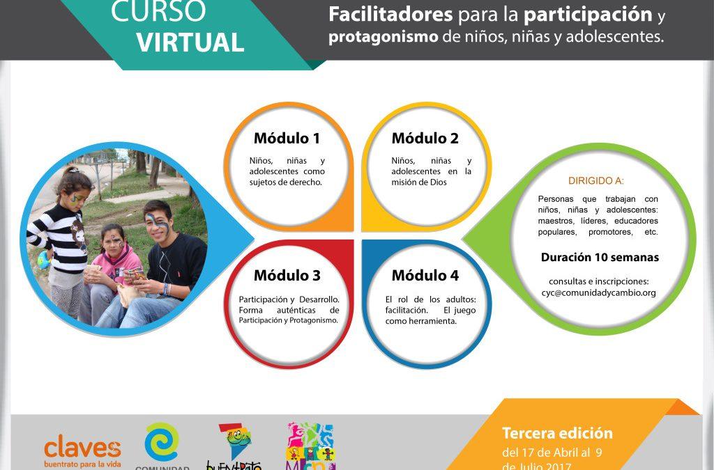 Curso virtual: Facilitadores para la participación y protagonismo de niños, niñas y adolescentes